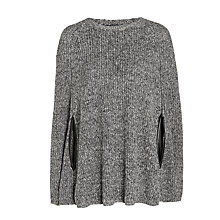 Buy Lauren Ralph Lauren Georvonia Poncho, Grey Online at johnlewis.com