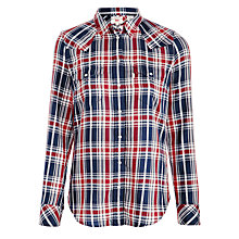 Buy Levi's Tailored Check Western Shirt, Plaid Peacoat Online at johnlewis.com