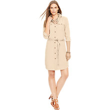Buy Lauren Ralph Lauren Aleksas Shirt Dress, Flax Tan Online at johnlewis.com