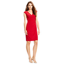 Buy Lauren Ralph Lauren Adara Jersey Dress, Riveting Red Online at johnlewis.com