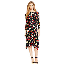 Buy Lauren Ralph Lauren Aiakos Floral Wrap Dress, Black Online at johnlewis.com