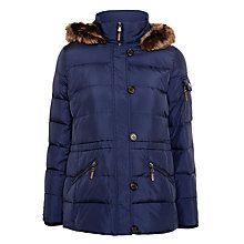 Buy Lauren Ralph Lauren Faux Fur Hooded Parka, Regal Navy Online at johnlewis.com