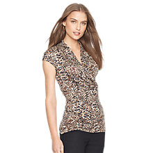 Buy Lauren Ralph Lauren Aldina Printed Wrap Top, Multi Online at johnlewis.com