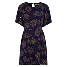 Buy Louche Florella Flower Dress, Navy Online at johnlewis.com