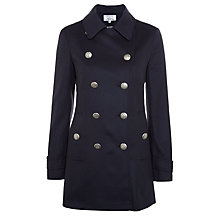 Buy Vilagallo Wool-Blend Peacoat, Navy Online at johnlewis.com