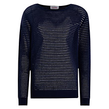 Buy Louche Onie Sheer Stripe Jumper, Navy Online at johnlewis.com
