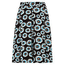 Buy Louche Ritz Floral Print Skirt, Black Online at johnlewis.com