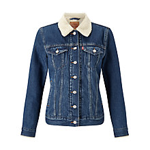 Buy Levi's Sherpa Trucker Jacket, Snow Dust Online at johnlewis.com