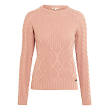 Buy Barbour Ursula Knitted Jumper, Nude Online at johnlewis.com