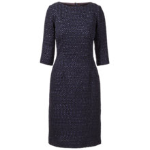 Buy Winser London Rosamund Tweed Dress, Midnight Online at johnlewis.com