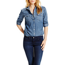 Buy Levi's Modern Western Denim Shirt, Medium Bright Online at johnlewis.com
