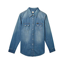 Buy Lee Regular Western Denim Shirt, Blue Record Online at johnlewis.com