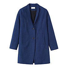 Buy Toast Crinkle Cotton Coat, Indigo Online at johnlewis.com