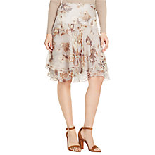 Buy Lauren Ralph Lauren Vazuntya Crinkle Skirt, Antique Grey Online at johnlewis.com