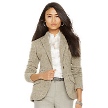 Buy Lauren Ralph Lauren Ayvirie Blazer, Grey/Cream Online at johnlewis.com