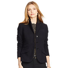 Buy Lauren Ralph Lauren Ansford Leather Trim Jacket, Black Online at johnlewis.com