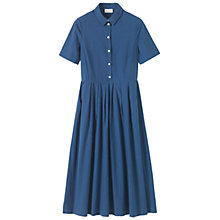 Buy Toast Pleated Shirt Dress, Mazarine Blue Online at johnlewis.com