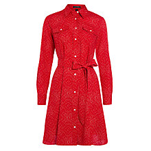 Buy Lauren Ralph Lauren Finnula Shirt Dress, Red Online at johnlewis.com