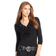 Buy Ralph Lauren Fyrne Stretch Top, Black Online at johnlewis.com