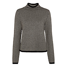 Buy Lauren Ralph Lauren Kiania Turtleneck Jumper, Black/Modern Cream Online at johnlewis.com