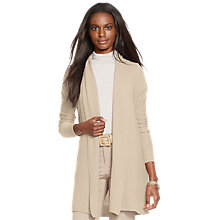 Buy Lauren Ralph Lauren Nadora Open Front Cardigan, Taupe Heather Online at johnlewis.com