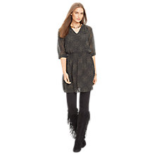 Buy Lauren Ralph Lauren Kamlai Peasant Dress, Black/Tan Online at johnlewis.com