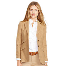 Buy Lauren Ralph Lauren Helaine 3 Button Hacking Jacket, Flax Tan Online at johnlewis.com