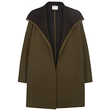 Buy People Tree Nisha Drape Jacket, Khaki Online at johnlewis.com