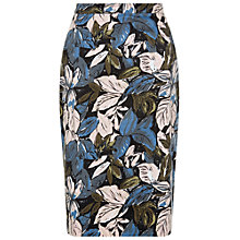 Buy People Tree Ripley Leaf Print Pencil Skirt, Multi Online at johnlewis.com