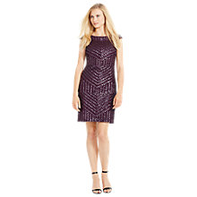 Buy Lauren Ralph Lauren Filenna Cap Sleeve Dress, Cherrywood Online at johnlewis.com