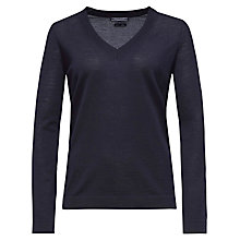 Buy Tommy Hilfiger Guvera V-Neck Jumper, Night Sky Online at johnlewis.com
