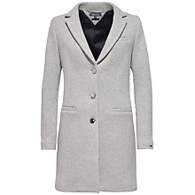 Buy Tommy Hilfiger Premium Classic Coat, Light Grey Heather Online at johnlewis.com