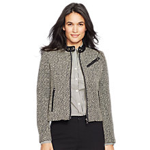 Buy Lauren Ralph Lauren Eire Jacket, Black/Cream Online at johnlewis.com