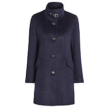 Buy Lauren Ralph Lauren Balmacaan Wool-Blend Coat, Regal Navy Online at johnlewis.com