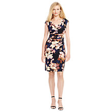 Buy Lauren Ralph Lauren Valli Floral Dress, Indigo/Pink Online at johnlewis.com