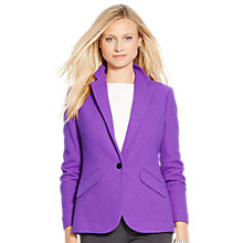 Buy Lauren Ralph Lauren Farron One Button Jacket, Brilliant Purple Online at johnlewis.com