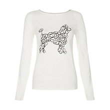Buy People Tree Scribble Dog Print T-Shirt, White Online at johnlewis.com
