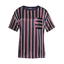 Buy Tommy Hilfiger Mara Stripe Blouse, Night Sky Multi Online at johnlewis.com