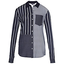 Buy Tommy Hilfiger Mix Stripe Shirt, Night Sky Online at johnlewis.com