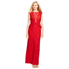 Buy Lauren Ralph Lauren Leilana Cap Sleeve Dress, Red Online at johnlewis.com