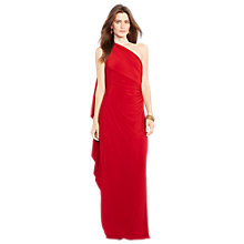 Buy Lauren Ralph Lauren Sleeveless Jersey Dress, Vibrant Garnet Online at johnlewis.com