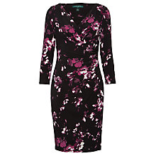 Buy Lauren Ralph Lauren Elsie Beethoven Dress, Raisin Black Online at johnlewis.com