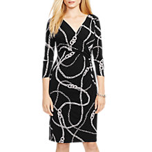 Buy Lauren Ralph Lauren Rachita Chain Dress, Black Online at johnlewis.com