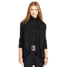Buy Lauren Ralph Lauren Vittoria Shawl Cardigan, Black Online at johnlewis.com