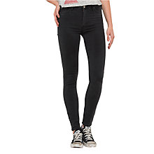 Buy Lee Skyler High Waist Skinny Jeans, Epic Black Online at johnlewis.com