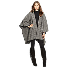 Buy Lauren Ralph Lauren Vavia Check Poncho, Black/Cream Online at johnlewis.com