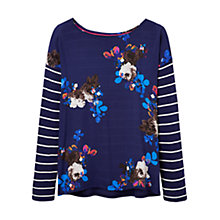 Buy Joules Bee Floral Printed Jersey Top, Navy Online at johnlewis.com