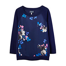 Buy Joules Paloma Woven Front Jumper, Navy Online at johnlewis.com