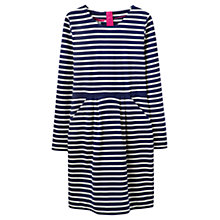 Buy Joules Thurwell Stripe Jersey Dress, Navy Online at johnlewis.com