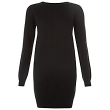 Buy People Tree Keisha Knitted Dress, Black Online at johnlewis.com